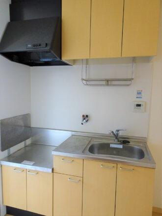 システムキッチンです。ガスコンロ設置可能。